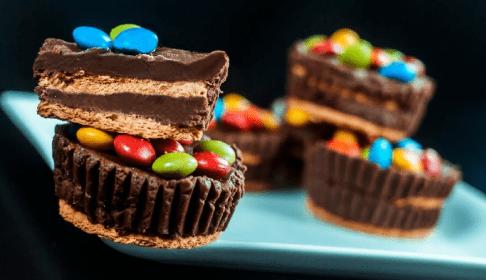 cupcakes de chocolate sin horno