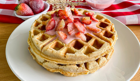 Waffles integrales con yogurt
