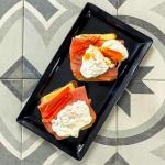 tostadas con queso y jamon