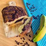 Tortilla de banano con chocolate